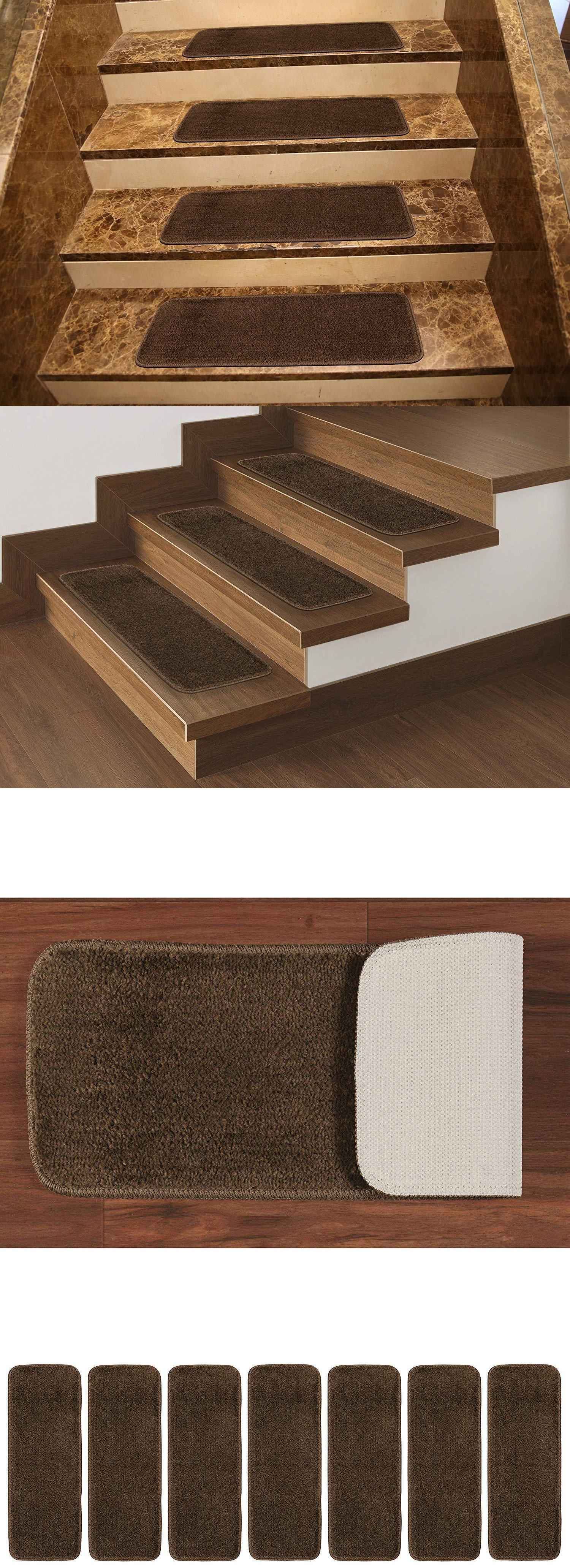 Best Stair Treads 175517 Ottomanson Softy Solid Brown Set Of 7 640 x 480