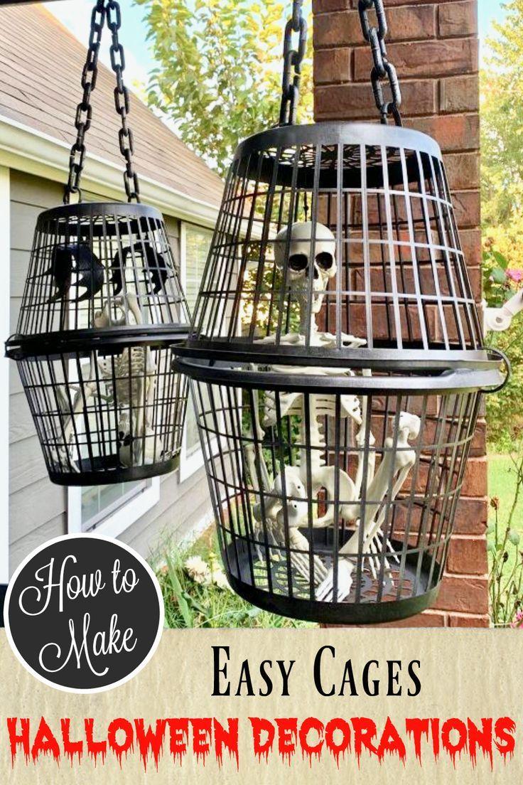 DIY Caged Halloween Decor