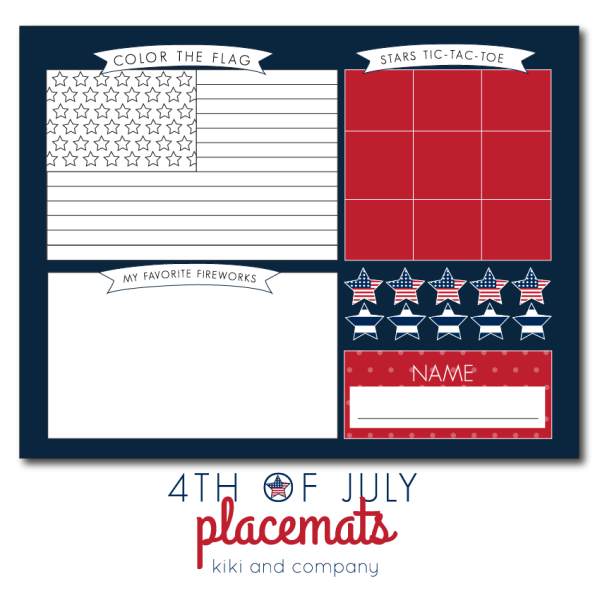 Keep Kids Busy With Adorable 4th Of July Placemats Business For Kids 4th Of July Fourth Of July