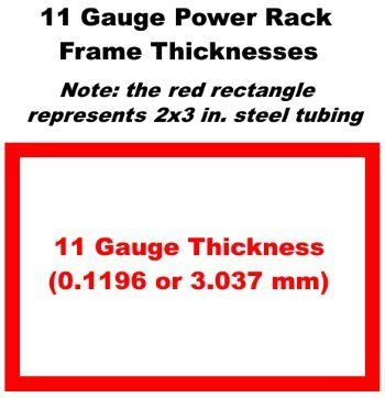 11 Gauge Power Rack Steel Thickness For 2 X 3 Inch Steel Tubing Drawn To Scale Power Rack Power Rack