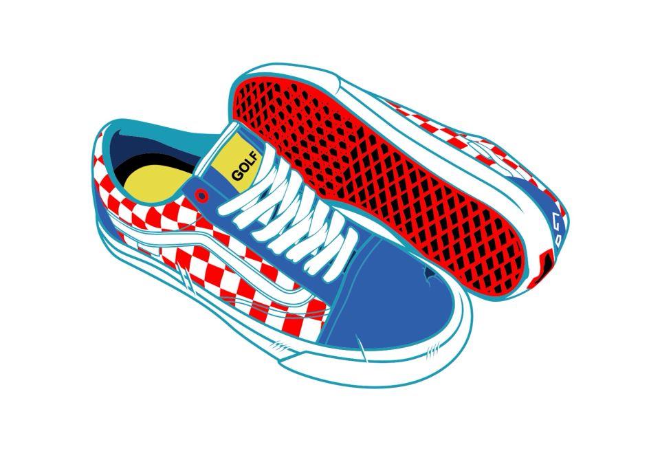 Vans Golfwang Vector Sneakers Sketch Sneaker Art Vans Stickers