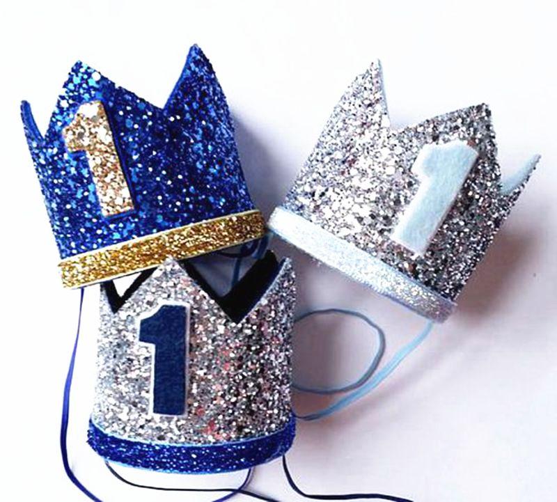 Glitter Baby Kids 1st 2nd 3nd Anniversaire Chapeau party Crown Party Decor photo Prop