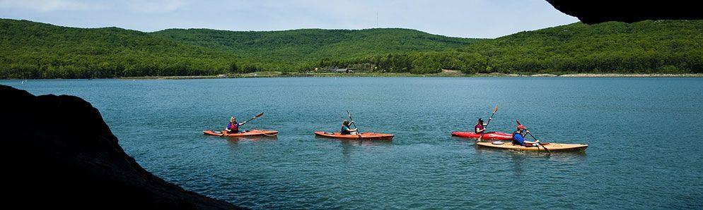 Lake fort smith state park boston mountain range ozark