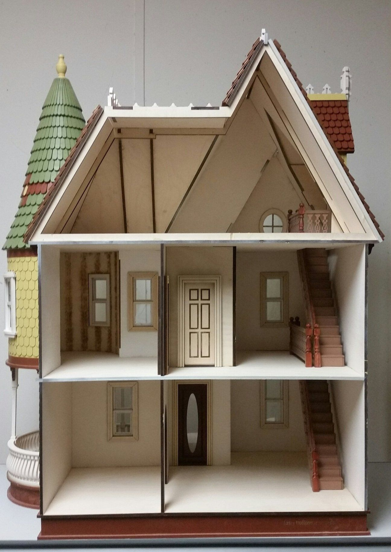 Wooden Dollhouse Kit Mirabella Mansion 1 12 Scale Victorian Dollhouse Wooden Dollhouse Kits Dollhouse Kits