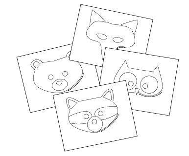 Woodland Creature Masks Alpha Mom Woodland Animal Masks Animal Mask Templates Printable Animal Masks