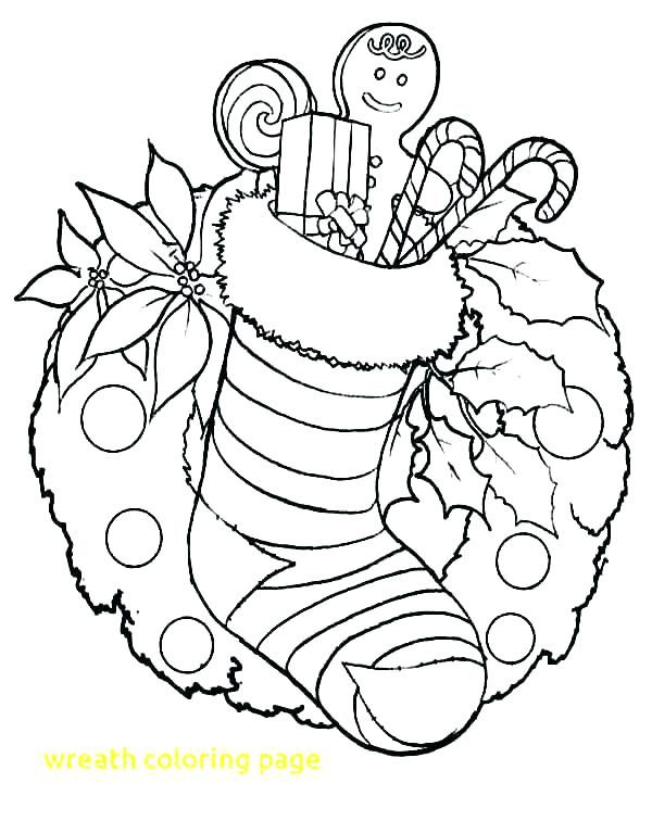 Wreath Coloring Pages Image Of Wreaths For Christmas Colouring
