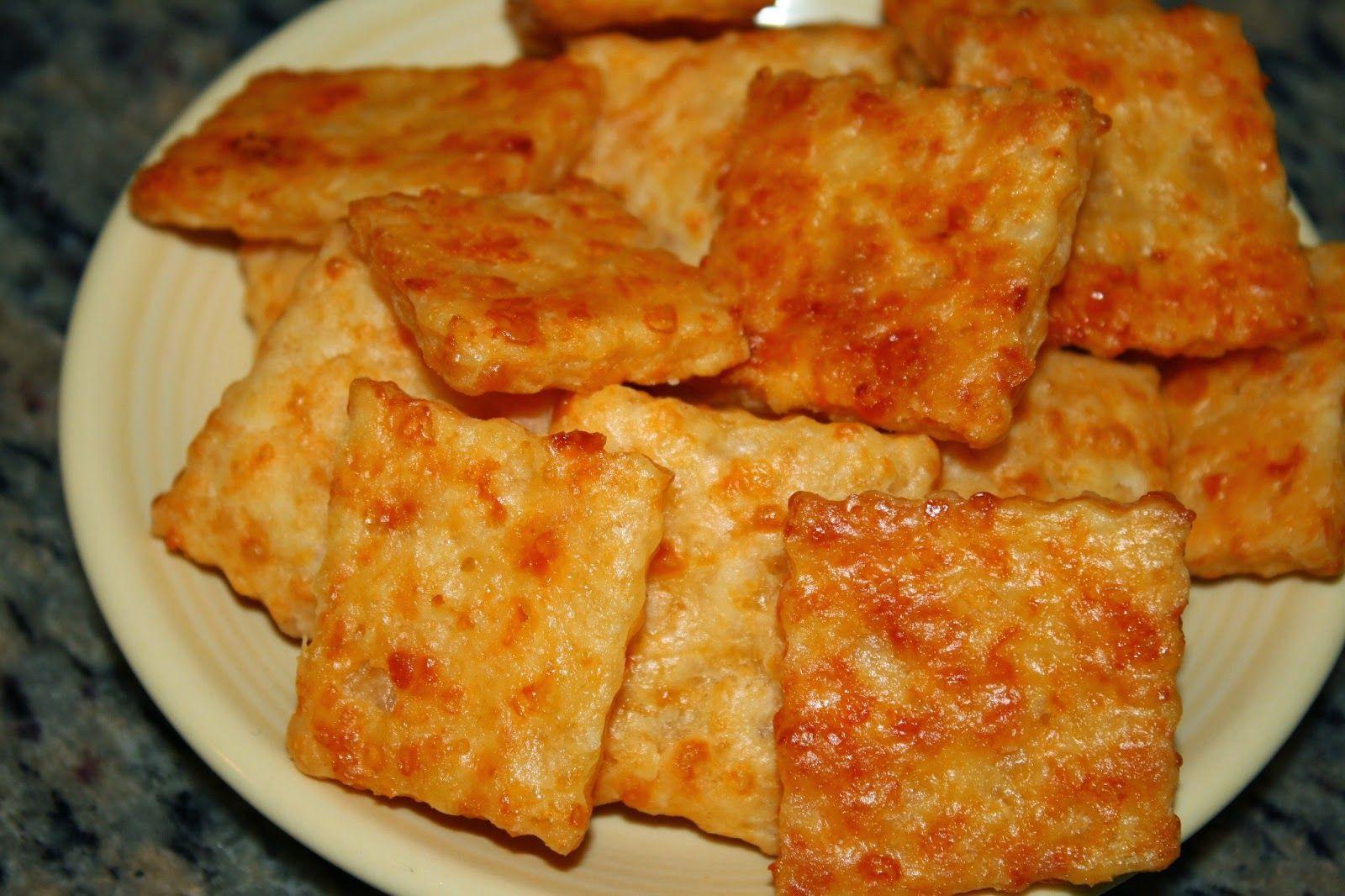 Garlic Asiago Cheese Crackers