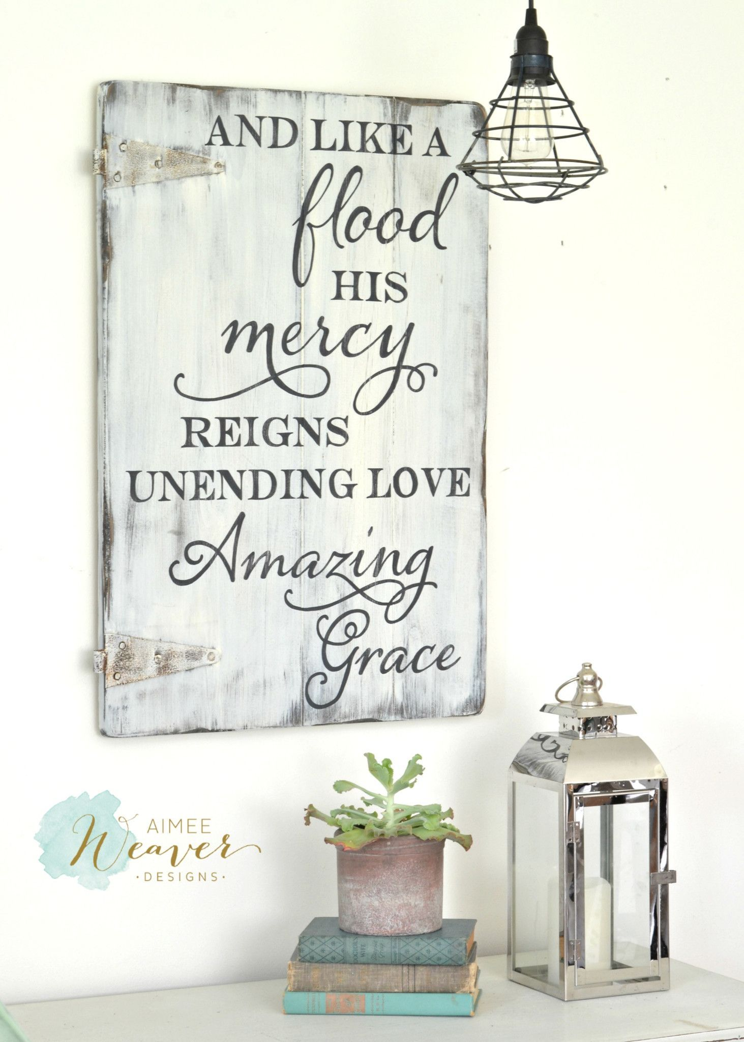 And like a flood His mercy rains, unending love, amazing ...