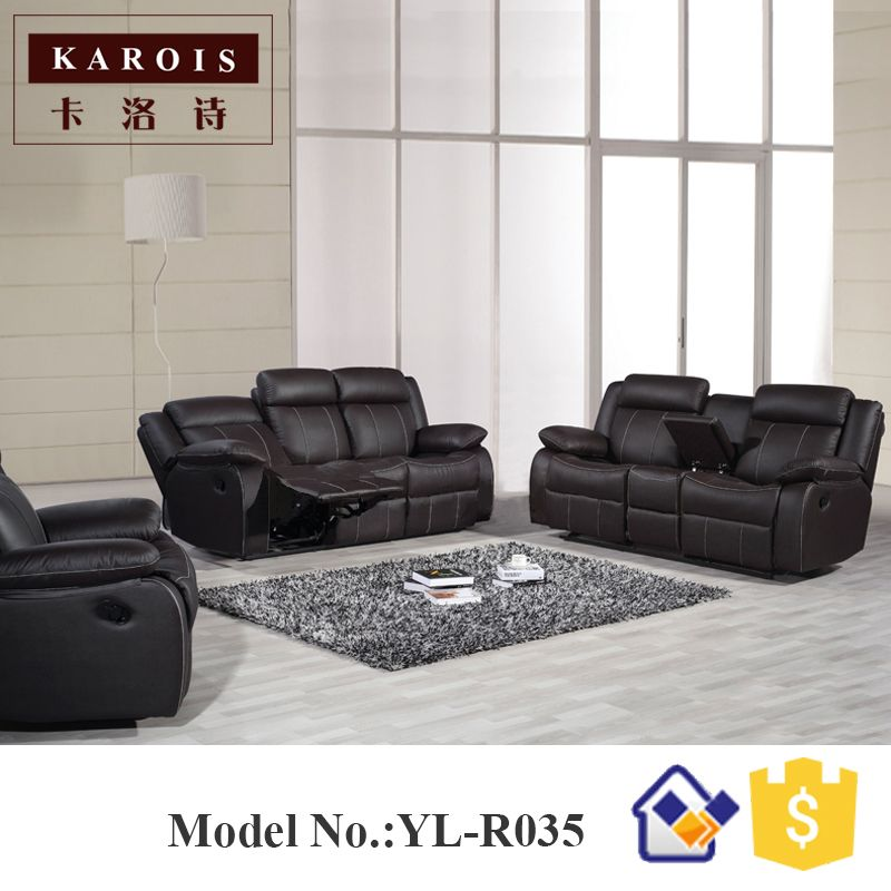 Yilin Furniture Manufacturer Genuine Leather Living Room 1 2 3