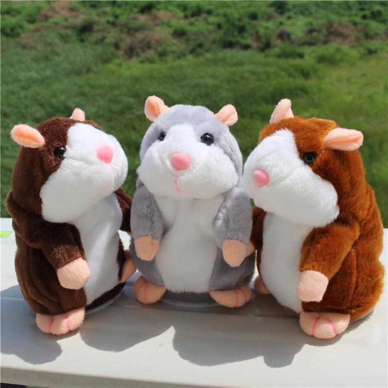Talking Hamster Pet Plush Toy Cute Speak Sound Record Hamster for Kids Gift