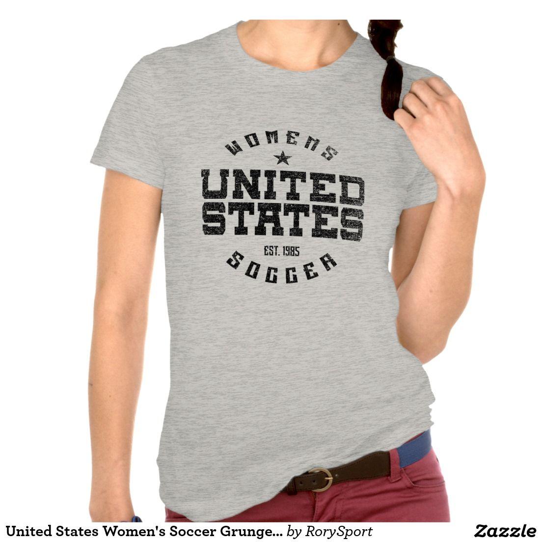 United States Women's Soccer Grunge T-Shirt