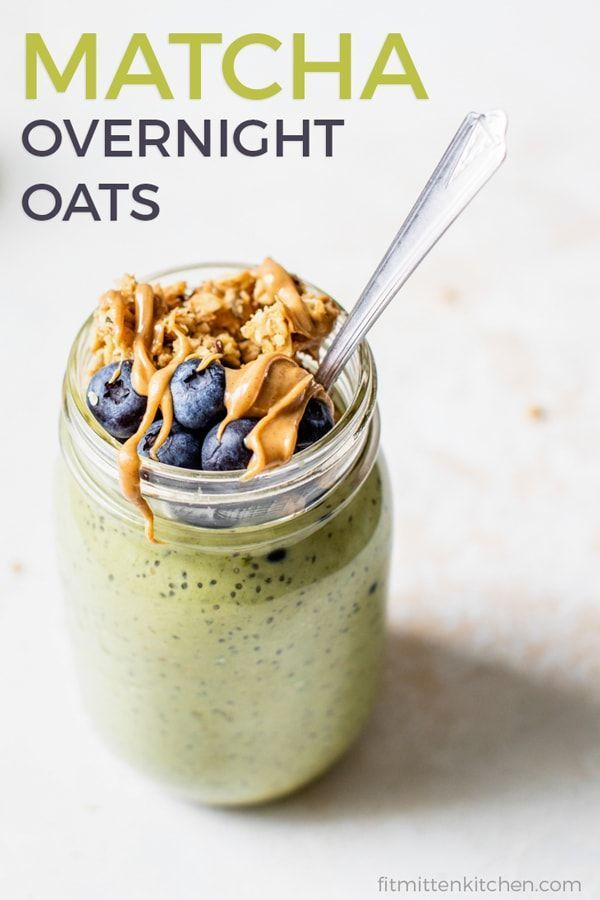 oats Photography oats Without Yogurt Matcha Overnight Oats are perfect for meal prep Vegan gluten free and you get a caffeine boost Use your favorite protein powder and y...