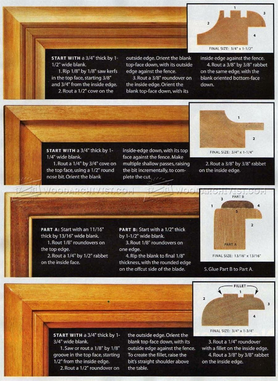 Router Made Picture Frame Plans - Woodworking Plans | Workshop ...