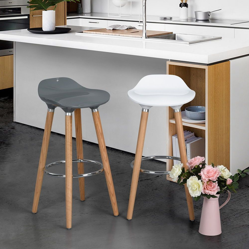 Remarkable Set Of 2 30 Scandinavian Breakfast Bar Stools Kitchen Dailytribune Chair Design For Home Dailytribuneorg