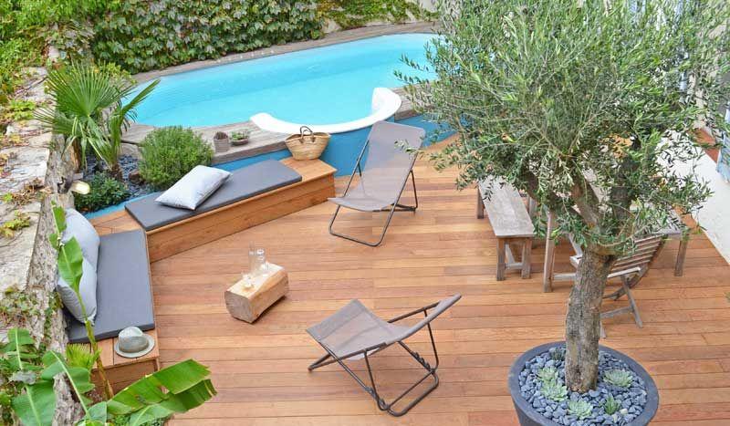 Avant Apres Cette Terrasse Betonnee Est Devenue Un Paradis Tropical Sublime Par La Piscine Terrasse Amenagement Piscine Amenagement Terrasse
