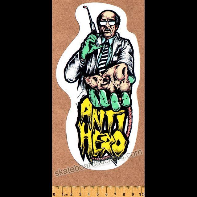 Anti Hero Mad Scientist Skateboard Sticker Skateboard Stickers Anti Hero Skateboards Skateboard