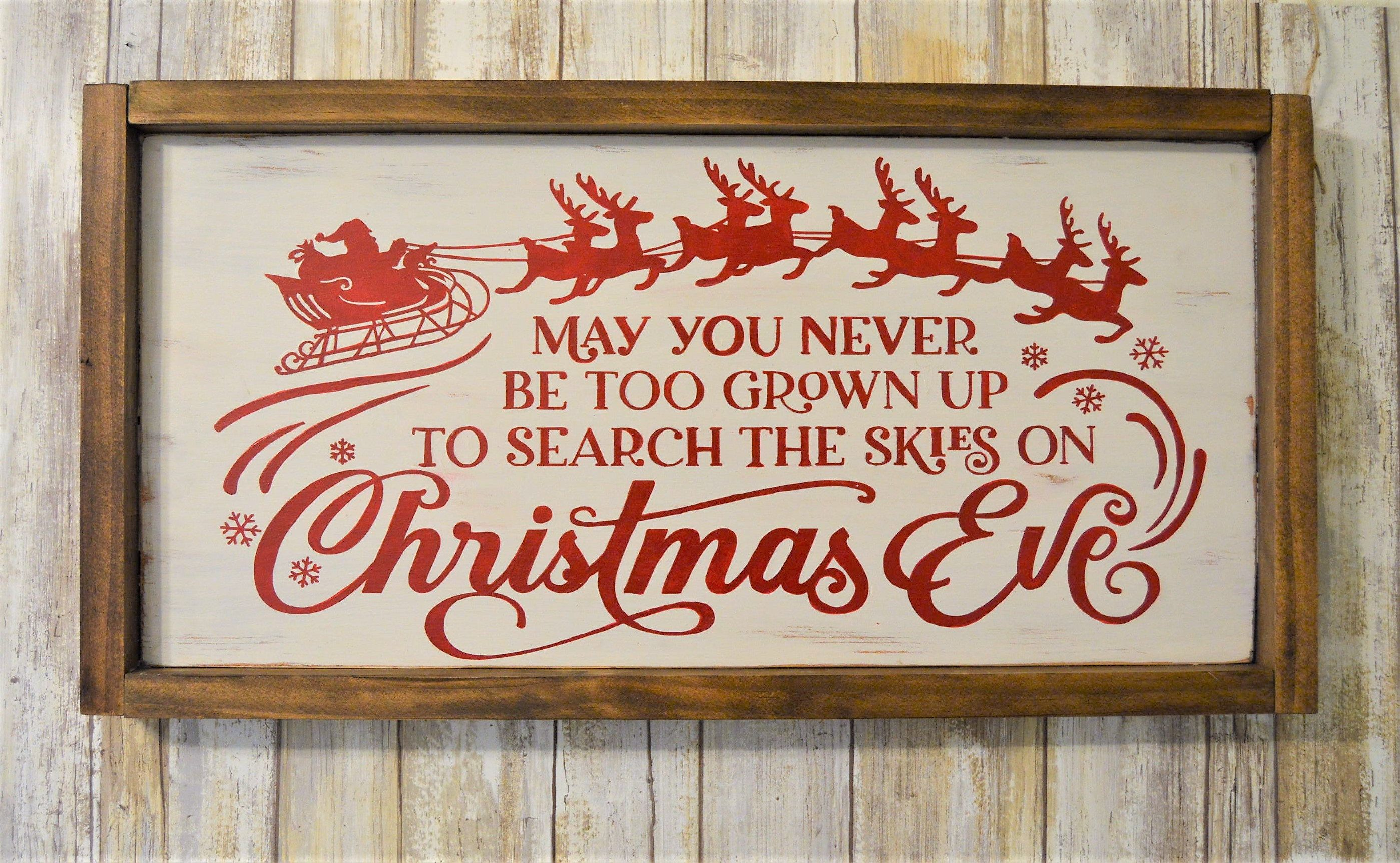 Christmas Wood Sign Painted Wooden Plaque Wall Decoration