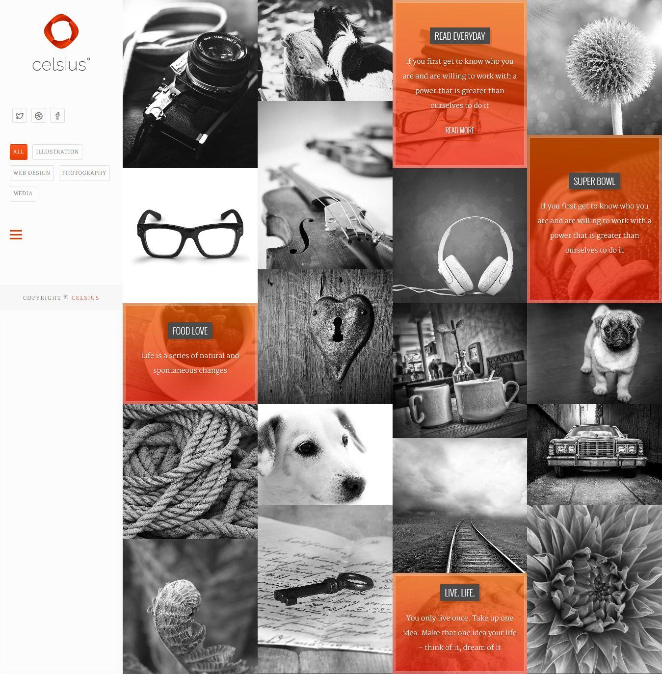 Celsius - Photography & Video Portfolio Responsive HTML5 Template ...