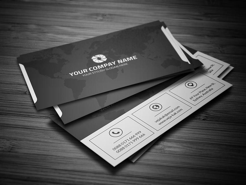 Clean Corporate Business Card | Business Card Mockup PSD ...