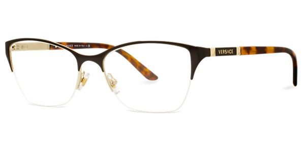 versace ve1218 frames semi rimless lenscrafters 270
