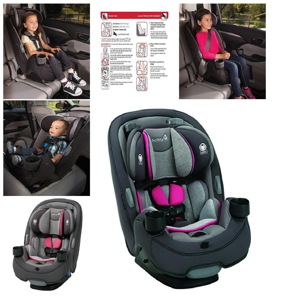 Safety 1st Grow Go 3 In 1 Convertible Car Seat Forward Rear Facing Pink Safety1st Convertible Car Seat Car Seats Baby Car Seats