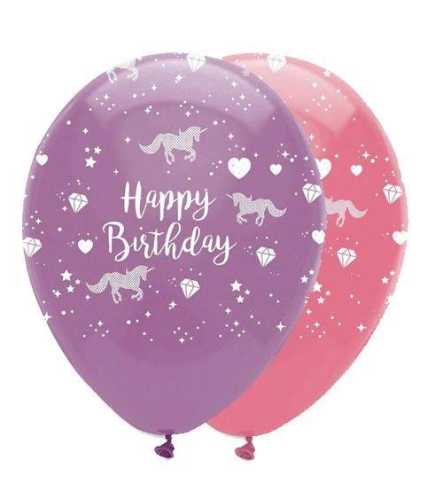 """LuftballonSet """"Einhorn"""" 6 Stück Luftballons"""