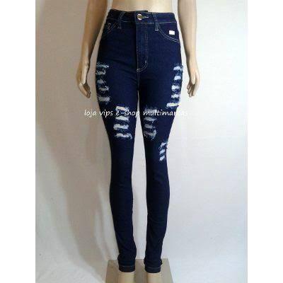 2945770ee04fc calças femininas jeans preta rasgada - Pesquisa Google
