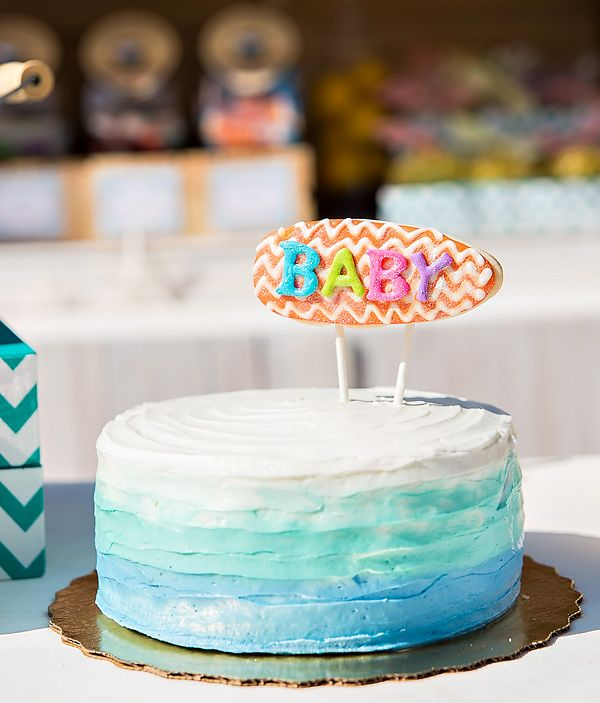 """""""There's A Baby On Board!"""" Surfing Themed Baby Shower"""