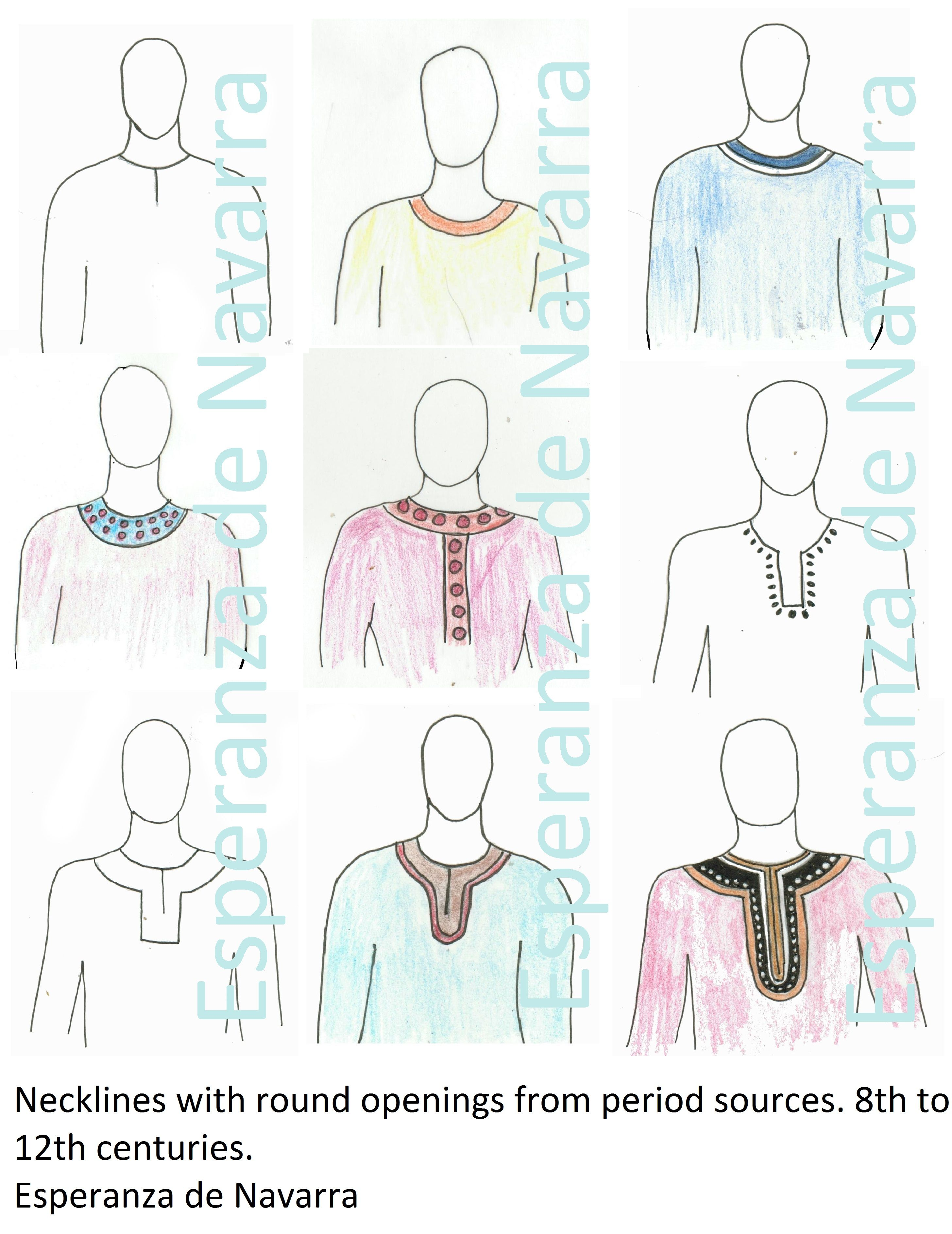 Not Your Normal Neckline – Part 1   Medieval, Neckline and Rounding