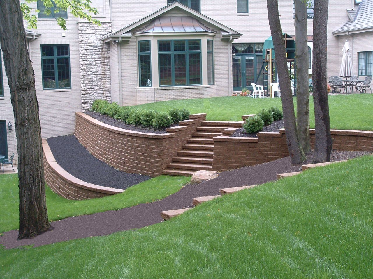 landscaping slope in front