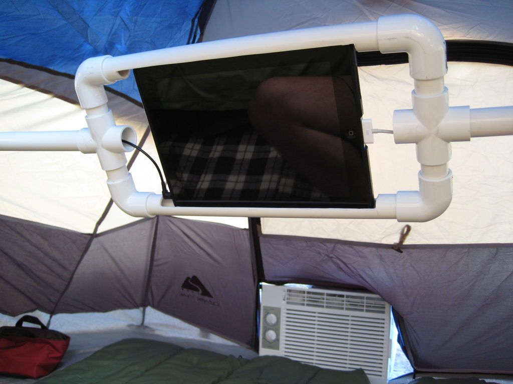 Pvc Ipad Holder And Mount For Tent Camping Tents