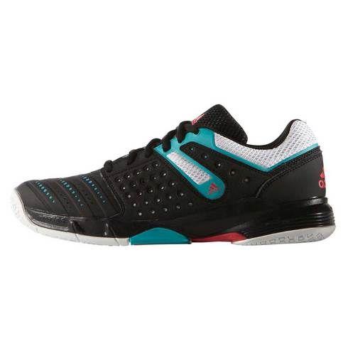 hot sale online 68f0a 6dc9e Chaussures Handball adidas Court Stabil 12 Femme Noir Turquoise Blanc