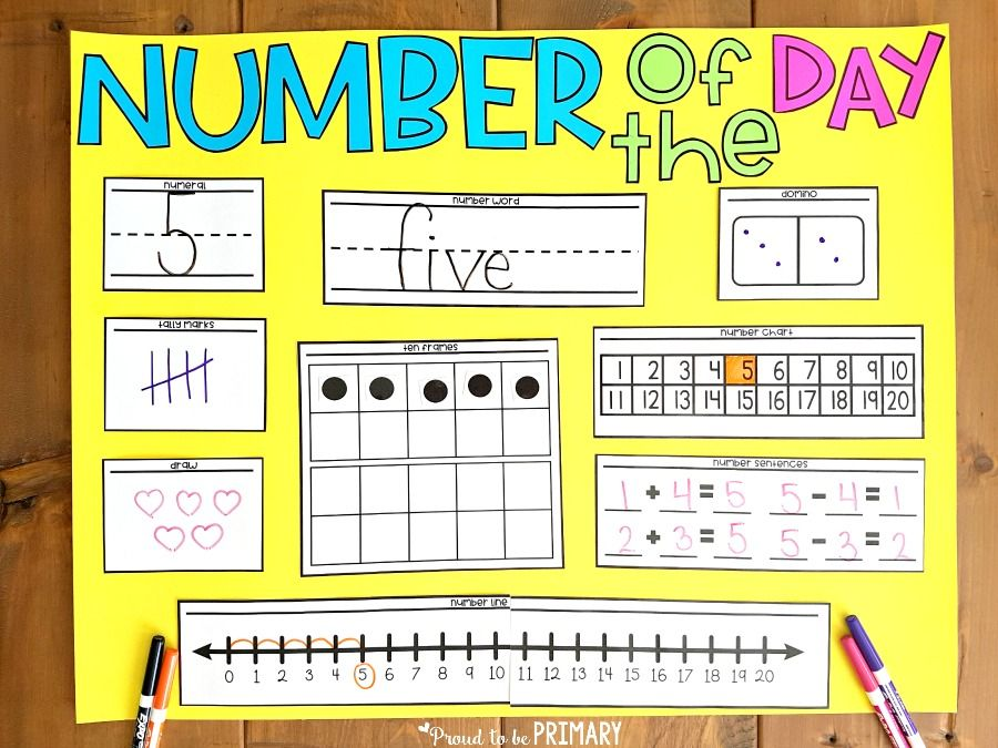 Number of the Day Activities to Boost Math Success Homeschool
