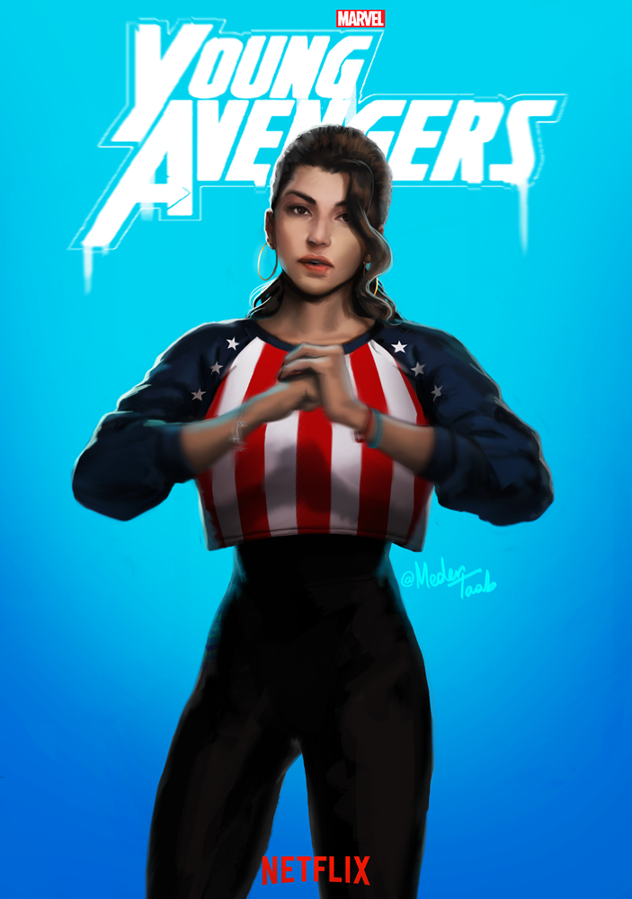 """medertaab:  """"There are new kids on the block""""Can you believe Marvel announced a""""Young Avengers"""" Netflix series at SDCC!!!??………jk I drew this because I wish…"""
