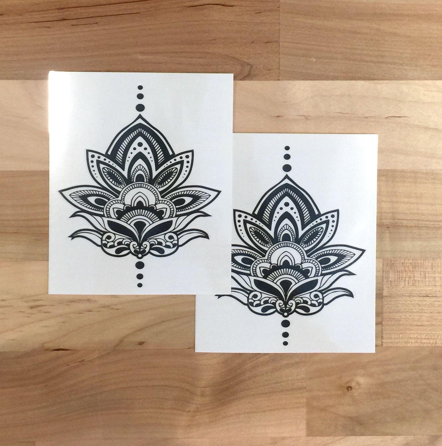 Henna Lotus Temporary Tattoo Mytat Tattoos Pinterest Hennas
