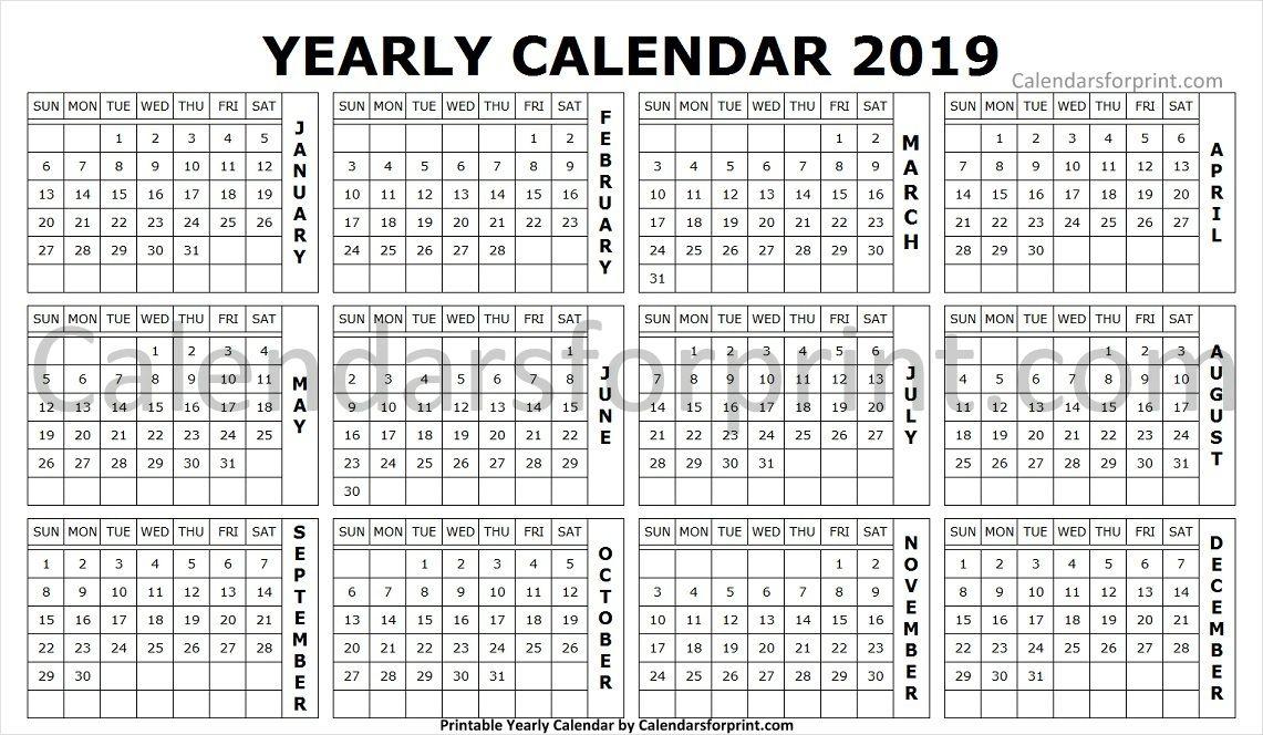 2019 Landscape Calendar Yearly Calendar 2019 Pinterest