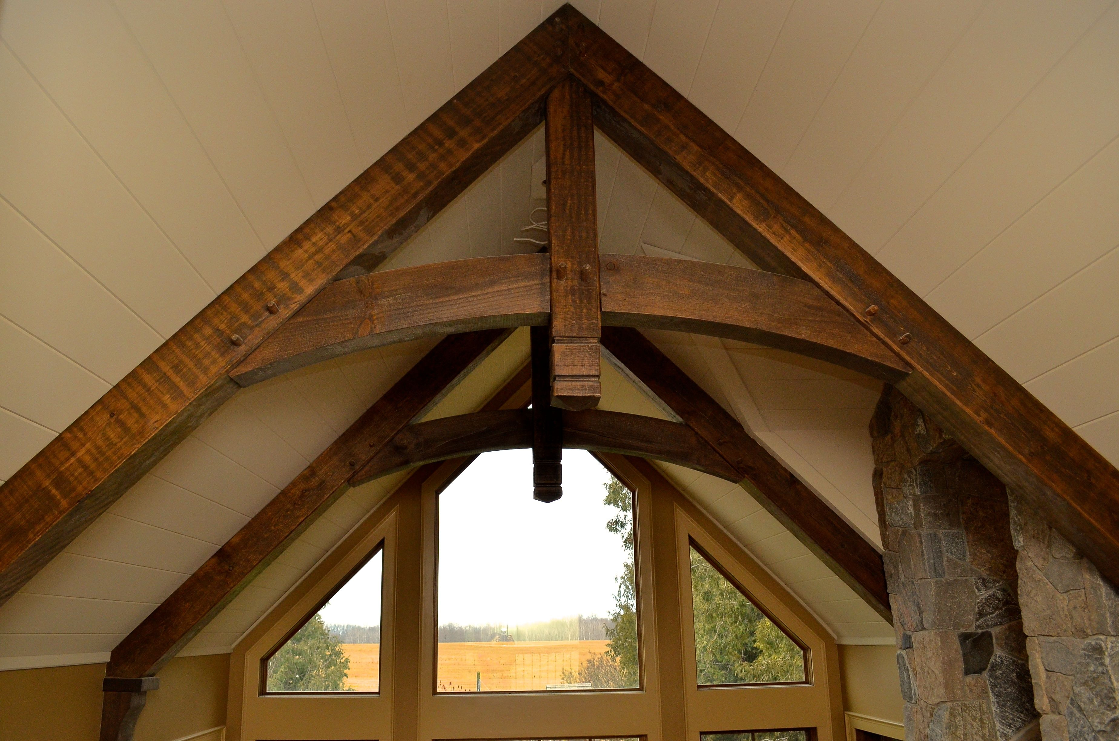 Timber Beam Ceiling Accent Custom Made By Timber Barn Www Timberbarn Ca Timber Frame Construction Timber Beams Timber Framing