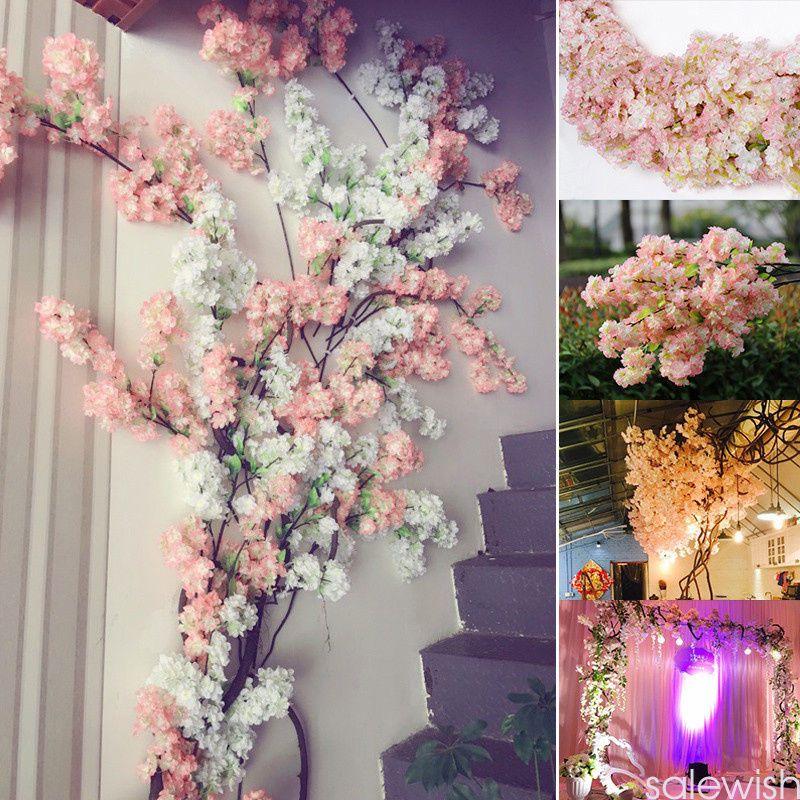 4 91aud 2017 Faux Silk Fake Artificial Cherry Blossom Flower Bridal Wedding Decor Ebay Home Silk Flowers Wedding Cherry Blossom Flowers Artificial Flowers