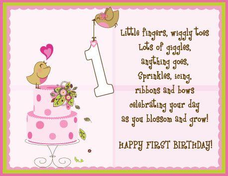 Greeting Card One Year Old Birdie Birthday Birthday Wishes For Kids First Birthday Wishes 1st Birthday Wishes