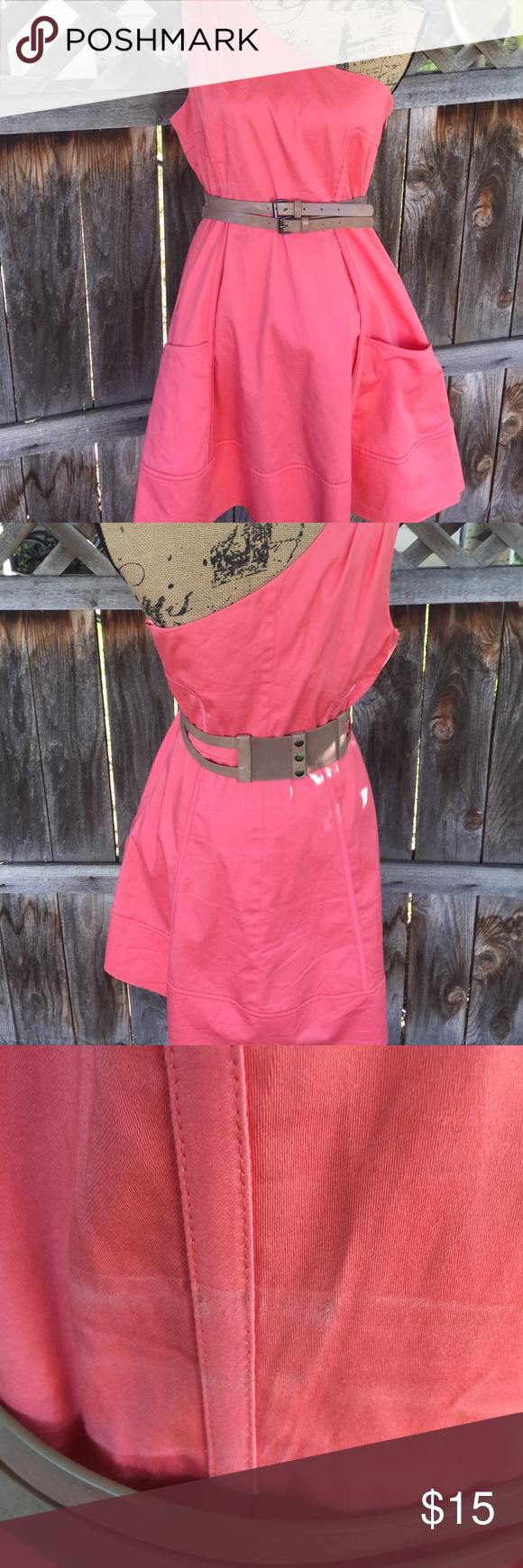 Jessica Simpson one shoulder dress soze 12 This is a cute dress has ...