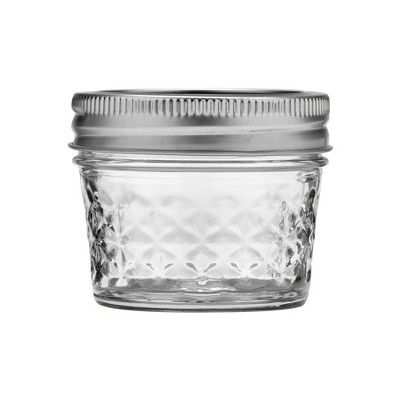 Ball 12ct 4oz Quilted Crystal Jelly Jar With Lid And Band