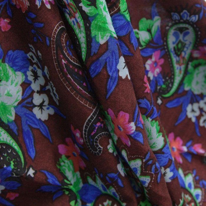 96fb5ea2e Tecido viscose syrah estampado flores - Maximus Tecidos | Loja Online