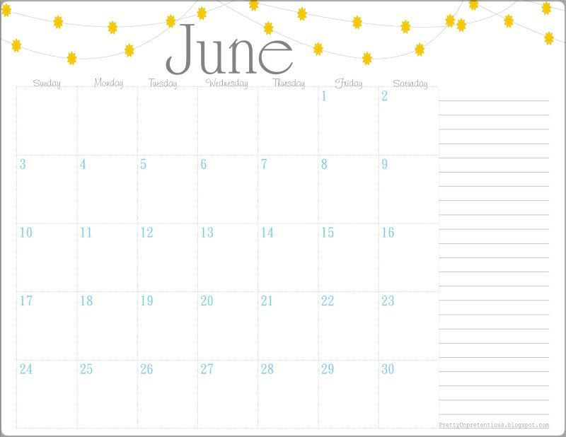free printable june calendar 2015