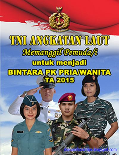 Penerimaan Bintara Pk Tni Al 2015 Angkatan Laut Tanggal