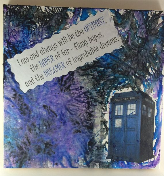 Doctor Who Canvas Wall Art Optimist By Lipstickandbowties Canvas Wall Art Art Wall Art