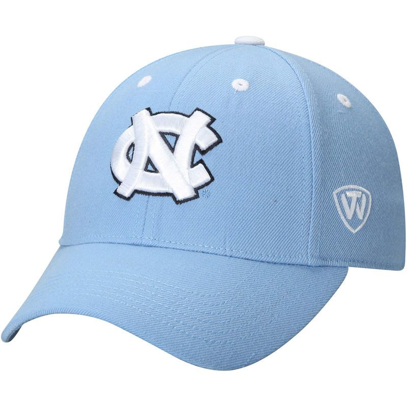timeless design 221f5 de2d3 North Carolina Tar Heels Top of the World Dynasty Memory Fit Fitted Hat -  Light Blue