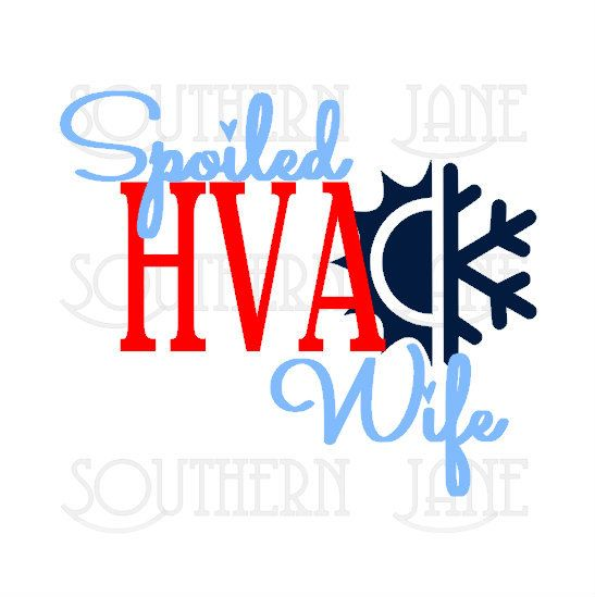 Cute spoiled hvac wife decal sticker