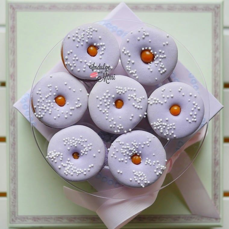 Salted Caramel Recipe \ Donut Macaron Template baked goodies - macaron template