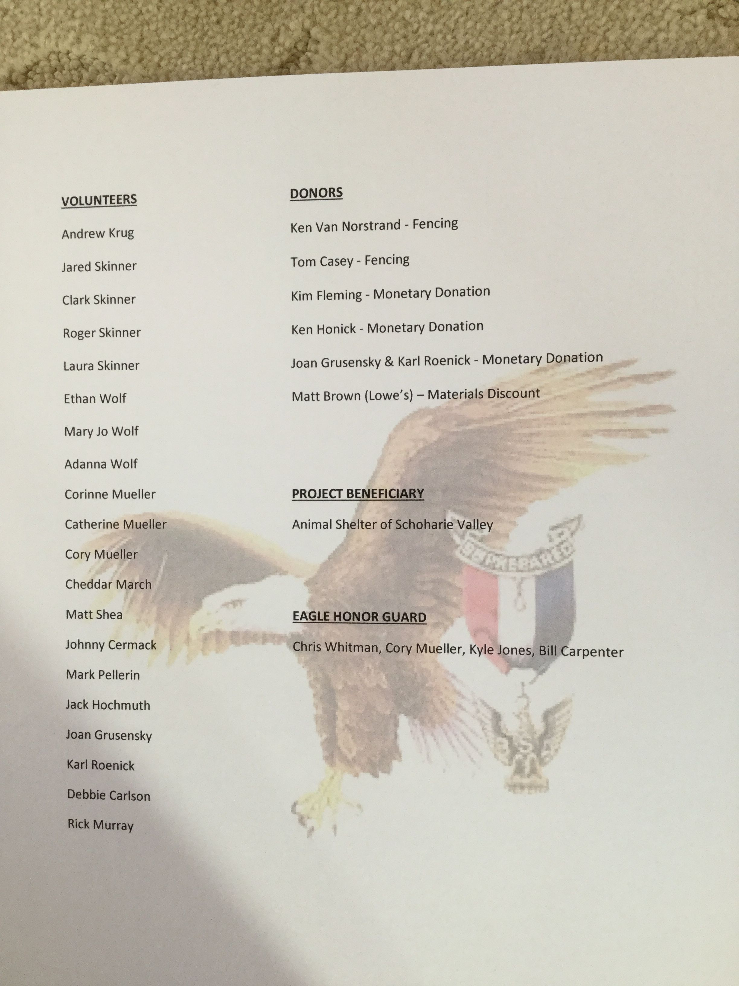 Boy Scout Eagle Court Of Honor Program With Watermark Boy Scouts
