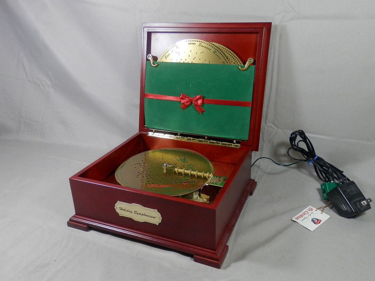 Vintage Mr. Christmas Holiday Symphonium Wooden Music Box w/16 Discs Original Cord by WesternKyRustic on Etsy